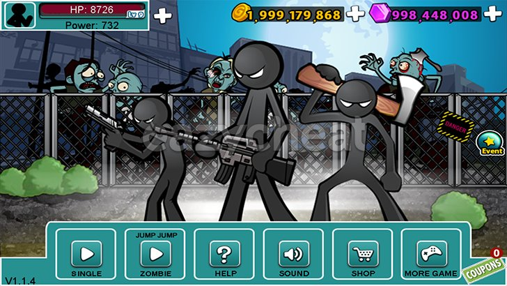 Anger of Stick 5 ( stickman ) Cheats
