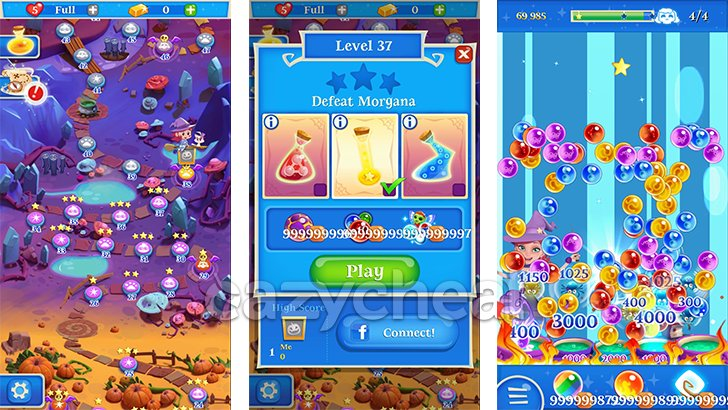 Bubble Witch Saga 2 Cheats