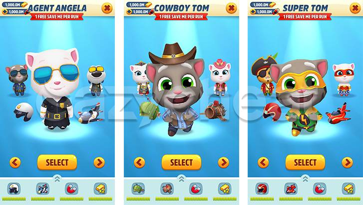 Talking Tom Gold Run cheat