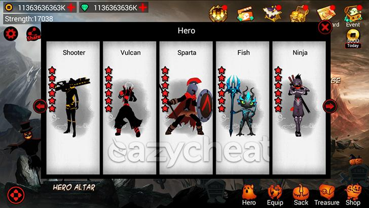 League of Stickman Free-Shadow Unlimited Gems v4.3.1