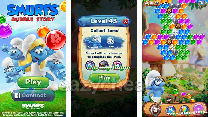 Smurfs Bubble Story Cheats