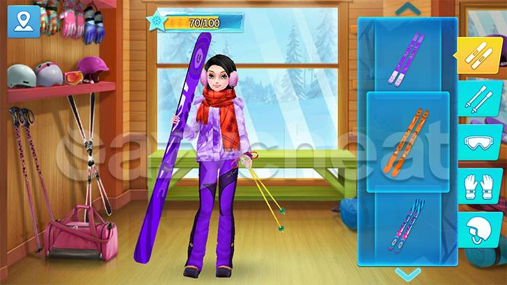 Ski Girl Superstar cheat