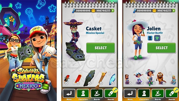 Subway Surfers Unlimited Keys v1.78.0(non rooted)