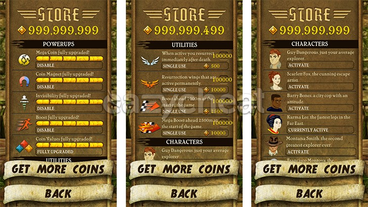 Temple Run Cheats v1.6.2